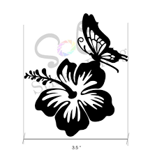 Butterfly Hibiscus Flower Rainbow Holographic Vinyl Decal Sticker Laptop 16 09 For Sale Online Ebay