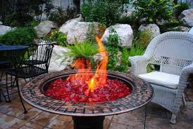 new gas fire pit glass stones trend