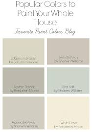 popular colors to paint your whole