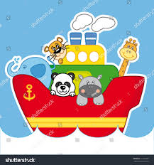 Child Ship Animals Kids Room Decoration Stock Vector Royalty Free 111019793