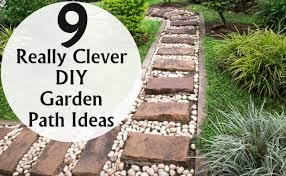 9 really clever diy garden path ideas