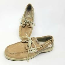 boat shoes beige leather lace up