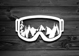 Snow Goggles Vinyl Decal Mountain Decal Mountain Sticker Etsy Mountain Decal Bear Decal Car Decals Vinyl