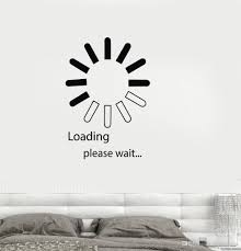 Video Game Loading Vinyl Wall Stickers Decal Computer It Design Bedroom Decor Wall Sticker Personality Pattern Wallpaper Decorative Decals Decorative Decals For Walls From Joystickers 13 48 Dhgate Com
