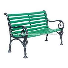 india cast iron garden bench on global