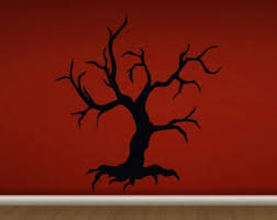 Scary Tree Decal Etsy