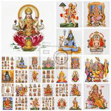 Collage With Hindu Gods Sticker Wall Decals Wallsheaven Malgorzata Kistryn