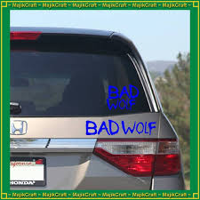 Bad Wolf Vinyl Decal Doctor Who Car Laptop Notebook Etsy
