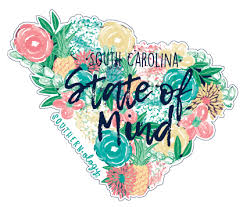 Southernology South Carolina State Of Mind Decal Underthecarolinamoon Com