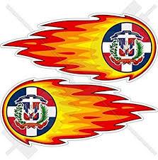 Transportation Automobilia Collectibles Dominican Republic Sun With Flag Car Decal Sticker Republica Dominicana Zsco Iq