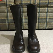 brooks tall leather boots size 7