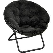 Shop Sherpa Saucer Chair On Sale Overstock 26885846 Ivory
