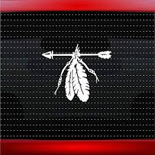 Amazon Com Noizy Graphics Feather 8 Indian Native American Car Sticker Truck Window Vinyl Decal Color White Automotive