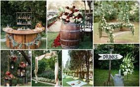 garden wedding party decorations that