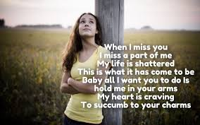 30 Missing You Love Poems for Her & Him To make Emotional (Pics)