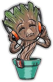 Marvel Avengers Guardians Of The Galaxy Lil Groot Anime Car Decal Stic Anime Stickery Online