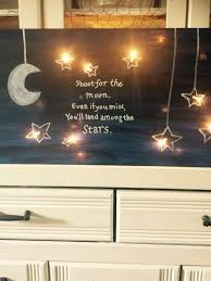 Shoot For The Moon Lighted Canvas Lighted Canvas Art Christmas Canvas Art Diy Lighted Canvas