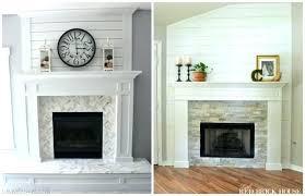 tiled fireplace makeover remodel brick