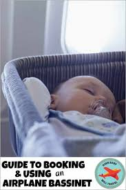 booking using an airplane bassinet