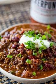 slow cooker beef chili crockpot chili