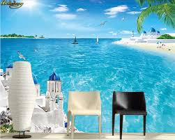 Beibehang مخصص صور خلفيات جدارية الحب البحر مشهد البحر كوكو شاطئ