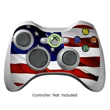 Skin Stickers For Xbox 360 Controller Vinyl X360 Slim Remote Protector Cover Wired Wireless Gamepad Decal Stars N Stripes Walmart Com Walmart Com