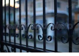 Wrought Iron Fence Rods Close Up Stock Photo Alamy