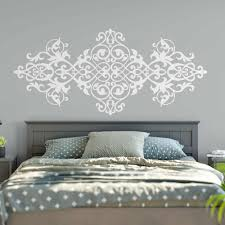 Large Size Vintage Headboard Wall Decal Baroque Style Design Mandala Flower Wall Stickers Master Bedroom Home Art Decor M28 Wall Stickers Aliexpress