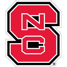 Nc State Wolfpack Red Block S Vinyl Decal Red And White Shop