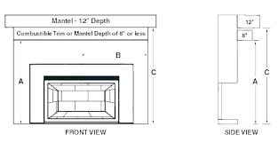 average height of fireplace mantel