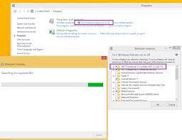net framework 3 5 in windows 8