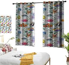 Valance Window Curtain Navy With Bright Colored Lizards Boys Room Custom Made