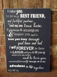 custom wedding vows i take you to be my best friend wood