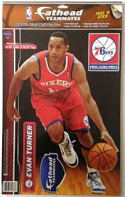 Amazon Com Fathead Teammates 12 Evan Turner Philadelphia 76ers Sixers Reusable Vinyl 3d Graphics Wall Decoration 16 1 2 Inches Tall Sports Fan Wall Banners Sports Outdoors