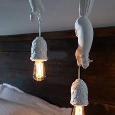 Friendly Critters Squirrels Pendant Lighting Nordic Home Animal Lamps Thenordictradingco Com