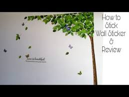 Decals Design How To Apply Wall Stickers On Wall Review Youtube