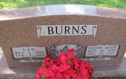 Glenn Addie Burns (1898-1997) - Find A Grave Memorial
