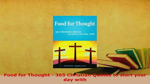 pdf food for thought christian quotes to start your day