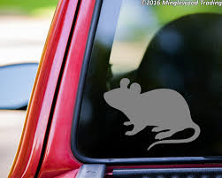 Mouse Vinyl Decal Sticker 4 X 3 Mice Rat Rodent Minglewood Trading