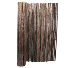 Backyard X Scapes 1 In D X 4 Ft H X 8 Ft W Carbonized Rolled Bamboo Garden Fence 22 C4 The Home Depot Bamboo Fence Bamboo Garden Fences Fence Panels
