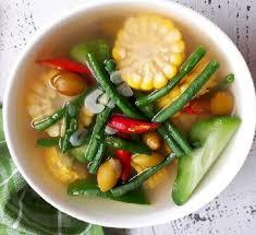 Hasil gambar untuk resep sayur asem jawa tengah bening
