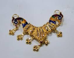 22k gold pendant necklace handmade