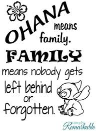 Amazon Com Simply Remarkable Ohana Means Family Family Means Nobody Gets Left Behind Or Forgotten Vinyl Wall Decal Sticker Made In Usa Inspired By Disney And Lilo And Stitch 11