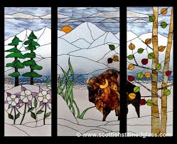 colorado themed stained glass in denver