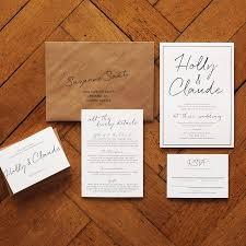 wedding invitation set on luxury card