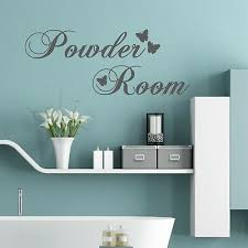 Powder Room With Butterflies Wall Words Quote Stickers Decals Bathroom Ebay
