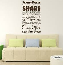 Family Rules Wall Art Vinyl Decor Wall Decal Customvinyldecor Com
