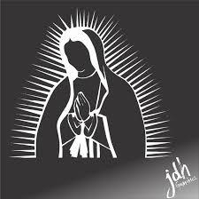 Virgin Mary Vinyl Decal Car Sticker Christian Bible Catholic Rosary Latin Wish