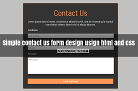 form design usign html and css