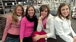 Priscilla Keller (now Waller), Rebekah McDonald, Susanna Keller, Anna  Duggar. Missing Esther Schrader. I just thought this pic was sweet.